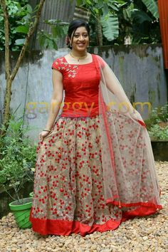 Best 12 Simple but yet nice for married ladies – Page 701013498226309785 Half Saree Designs, Lehenga Designs, Saree Blouse Designs, Long Gown Dress, Lehnga Dress, Lehenga Blouse, Indian Gowns Dresses, Indian Outfits, Long Frocks For Girls