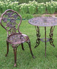 Another great find on #zulily! Rose Three-Piece Bistro Set by Oakland Living #zulilyfinds