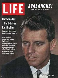 Robert Kennedy on the cover of Life magazine, January 1962.