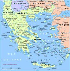 Modern day Thessalonica Map | Grece-Carte.gif