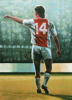 Johan Cruyff of Ajax Amsterdam wallpaper. Soccer Pro, Football Players, Morgan Soccer, Nike Football, Soccer Cleats, Fifa 100, Messi, Marco Van Basten, Michel Platini