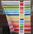 Rainbow Strip and Flip Quilt Tutorial_thumb - this would work for jelly rolls