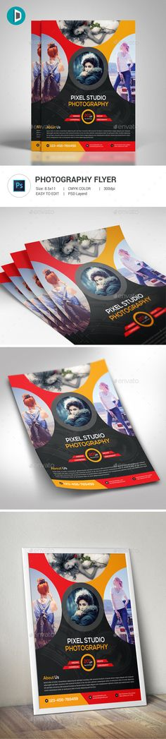 Photography Flyer — Photoshop PSD #digital #photographer • Available here → https://graphicriver.net/item/photography-flyer/19327731?ref=pxcr