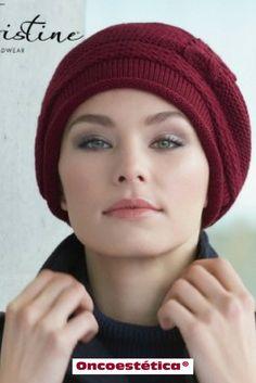 EVIE ROJO OSCURO - Gorro de punto -Colección Christine Headwear #oncoestetica #esteticaoncologica #vertebienimporta