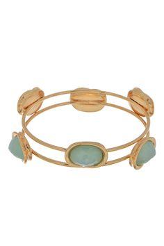 PALE BLUE LOVE - Gold Blue Bangle Bracelet Shop Simply Me Boutique – Simply Me Boutique