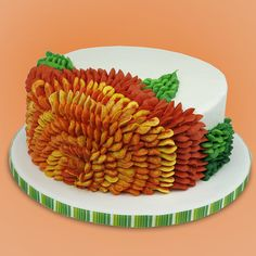 Marigold cake - instructions at Global Sugar Art.com