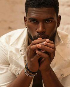 but you're not Broderick Hunter sexy 😍 photo credit Fine Black Men, Handsome Black Men, My Black Is Beautiful, Fine Men, Gorgeous Men, Dark Man, Broderick Hunter, Dark Skin Men, Chocolate Men