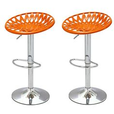 Special Offers - 2015 NEW Product!! Adeco Adjustable Height Bar Counter Tractor Seat Stools Set of TWO 360 Degree Rotation Mexico-Inspired Modern Home Accents orange - In stock & Free Shipping. You can save more money! Check It (May 31 2016 at 07:21AM) >> http://counterstoolsusa.net/2015-new-product-adeco-adjustable-height-bar-counter-tractor-seat-stools-set-of-two-360-degree-rotation-mexico-inspired-modern-home-accents-orange/