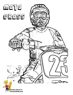 Rough Rider Dirt Bike Coloring Pages | Dirt Bike | Free | Dirt ...