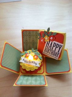 Photo on cardscrap paper feelings and memories tag 'em / another example of a birthday cake tealight (and calorie free!)