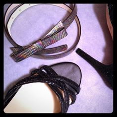 I just discovered this while shopping on Poshmark: Kate Spade Oil Slick Embossed Bow Belt PSRU1674NWT. Check it out! Price: $50 Size: Large, listed by gordomom
