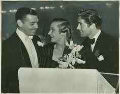 Carole Lombard,Clark Gable, and Tyrone Power