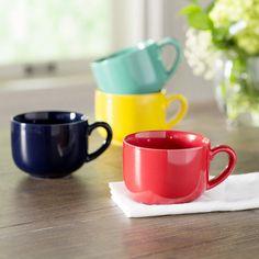 Andover Mills Rupert Jumbo 24 Oz Coffee Mug Set of 4 Color