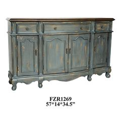 Elegant Crestview Collection Rustic Buffet Cabinet