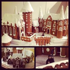Hogwarts castle made of gingerbread.