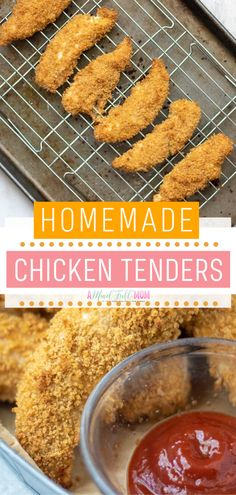 The Best Homemade Chicken Tenders This Quick And Easy Healthy Meal Bakes Up Crispy With Panko Bread Crumbs. A Family-Friendly Healthy Recipe In Less Than 30 Minutes. Pleasure Everyone With These Tasty Chicken Strips Save This And Try It Chicken Panko Recipes, Easy Chicken Tenderloin Recipes, Chicken Strip Recipes, Recipes With Panko Bread Crumbs, Easy Chicken Tender Recipes, Chicken Finger Recipes, Chicken Meals, Baked Chicken Tenderloins, Oven Baked Chicken Tenders