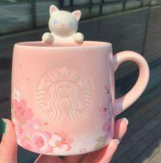 Custom Starbucks Cup, Starbucks Mugs, Pink Tumblr Aesthetic, Pink Aesthetic, Painted Coffee Mugs, Cute Water Bottles, Kawaii Room, Cute School Supplies, Kawaii Accessories