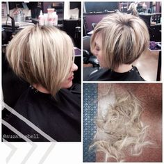 Short stacked bob hairstyles and color hair hair cuts hair styles. Short Stacked Hair, Short Hair Cuts, Short Hair Styles, Short Bobs, Stacked Bob Hairstyles, Pretty Hairstyles, Hairstyle Fade, Bob Haircuts, Fade Haircut