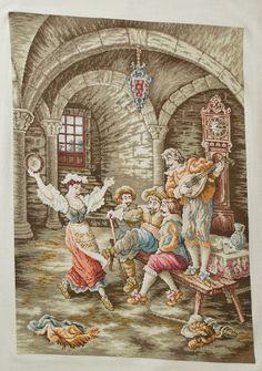 The Merry Musicians - a Wiehler Gobelin (Original), Viler Gobelin,Goblen,Great Christmas Gift