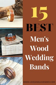 Wood wedding bands are fast becoming a popular choice for both men and women searching for a ring with a special twist. They bring an organic flavor to traditional wedding bands with various types of wood and materials found in nature. Here are the top picks for 15 Best Men's Wood Wedding Bands. Keep reading to find out! #wedding #groom #weddingbands #woodenbands