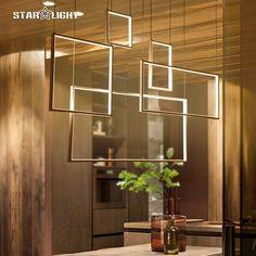 Modern LED Hanging Living Room decoration Pendant Chandelier Light  Indoor combination Suspension Chandelier Lamp