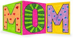 Preschool Crafts for Kids*: Mother's Day MOM Folding Card Craft