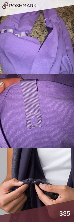 LuluLemon Vinyasa Scarf Purple Lululemon Vinyasa Scarf. This scarf turns into warm cozy cardigan. Worn 1 or 2 times. Perfect condition. lululemon athletica Accessories Scarves & Wraps