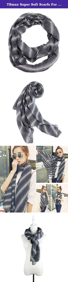 TBmax Super Soft Scarfs For Women Lightweight Blanket Shawl Causal Strip Scarf For Unisex(Stripes-Black). FEATURES : Fashion and adorable, stylish design fits all the seasons for all casual or formal business occasion. Very soft and lightweight. unique and beautiful. The scarf can be worn as a warm shawl,classic drape,infinty scarf,shawl,handkerchief,belted poncho,side handkerchief,blanket scarf etc.