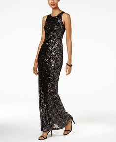 Betsy   Adam Beaded Mesh-Back Gown Women - Dresses - Macy s.  AftonklänningLånga KlänningarFestklänningarHögtidsdräktKlä Sig  FormellVestidosKläder 8f65e764520cc