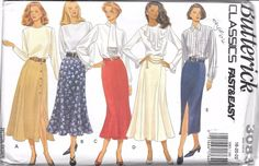 UNCUT sewing pattern Butterick 3083 ladies 18-22 skirt a-line flared semi fitted…