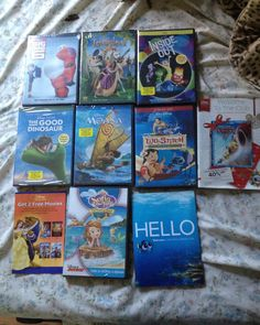 7 pre selected kids movies from the @disneymovieclub (Moana  Inside Out  Tangled  Big Hero Six  Sophia The First  Lilo And Stitch  The Good Dinosaur)