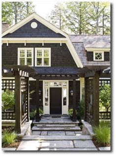Black Exterior Painted Ideas Cottage Homes Style House Elevation Front