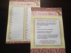 Corrida do Alfabeto Girafa - Chá de Bebê