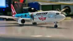 Qantas 767 in a special Disneys Planes Livery