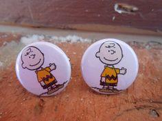 Charlie Brown Cufflinks. Wedding Men's Groomsmen by TreeTownPaper, $24.00