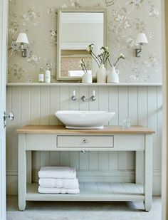 Traditional bathroom 170010954671728440 - neutral bathroom, neutral powder room, powder room design with bathroom mirror and tile floor, bathroom vanity and bathroom sconces vertical shiplap Source by paigeam Bathroom Sconces, Small Bathroom, Bathroom Ideas, Bathroom Designs, Small Toilet Room, Bathroom Paneling, Colorful Bathroom, Bathroom Canvas, Shower Designs