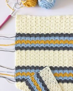 (Click here to download a PDF of this pattern from Etsy) This crochet blanket started with research of vintage stitches.…