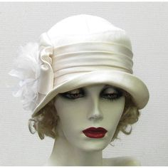 Vintage Style Womens Hat 1920's on Etsy Cloche Ivory Hat Wed ...