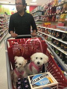 Shopping w/their dad