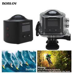BOBLOV X6S 4K Ultra HD VR Action Camera Wifi 360 Degree Panoramic Sports Action Cam Fisheye Lens 360 Video Camera