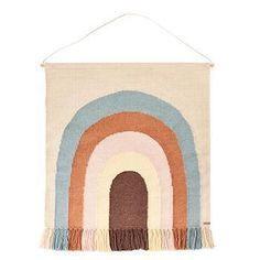 Gorgeous rainbow wall rug from OYOY. These Scandinavian designer wool rugs are designed to hang from any wall and has a pretty rainbow design. The neutral style means it will look great in any children's bedroom or nursery. Japan Design, Nursery Rugs, Nursery Decor, Rainbow Wall, Beige Background, Modern Rugs, Kids Decor, Wall Colors, Scandinavian Design