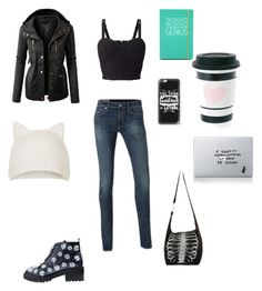 """A night"" by thelittlefanthatcould ❤ liked on Polyvore featuring Miss Selfridge, Anouki, LE3NO, Topshop, Casetify, Happy Jackson and Vinyl Revolution"