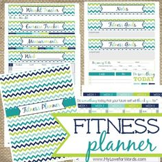 Fitness Planner from My Love for Words