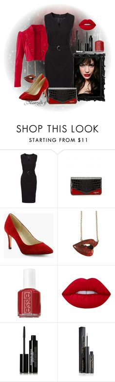 """""""Red for ever"""" by mamzelle-f ❤ liked on Polyvore featuring IVI, Unis, Essie, Lime Crime, Edward Bess and Elizabeth Arden"""