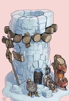 Toph Gorham Concept Art 07 Frozen Tower