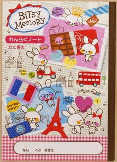 cute mouse Notepad with French theme from Japan