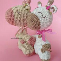 Amelie The Giraffe Amigurumi Pattern Amigurumi Giraffe, Crochet Animal Amigurumi, Crochet Teddy, Crochet Animal Patterns, Stuffed Animal Patterns, Cute Crochet, Amigurumi Doll, Amigurumi Patterns, Crochet Dolls