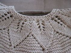 Of Wool and Loveliness: DIY Crystal Chandelier and a Lacy Leaf Baby Sweater