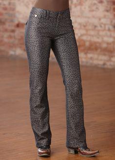 Tasha Polizzi. Midnight Leopard Jeans. Crowsnest Trading Co.