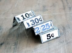 Name Your Price  Vintage Store Signs  Shelf Clips  by becaruns